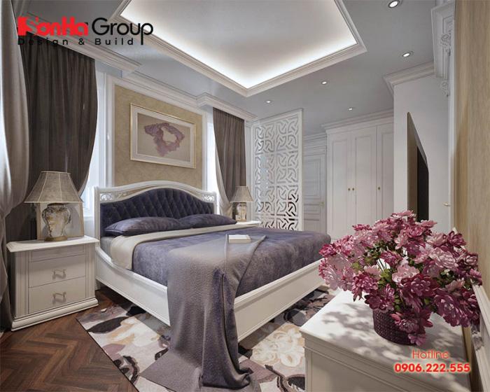 Thiết kế phòng ngủ tân cổ điển với kiểu dáng độc đáo và bắt mắt