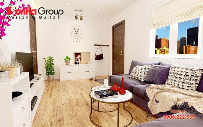 Trang trí phòng khách chung cư hiện đại với nhiều sắc màu, tranh treo tường độc đáo khiến ai cũng ngưỡng mộ khi đặt chân vào căn phòng