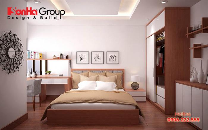 Vị trí kê giường rất quan trọng khi thiết kế nội thất phòng ngủ