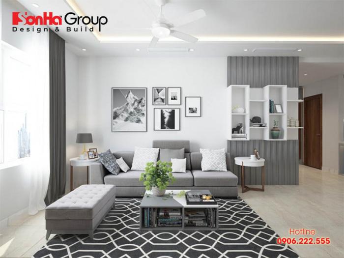 Ý tưởng hay cho phòng khách chung cư hiện đại diện tích nhỏ