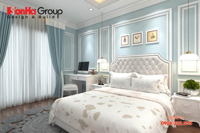 Ý tưởng trang trí phòng ngủ tân cổ điển đẹp dành cho ông bà