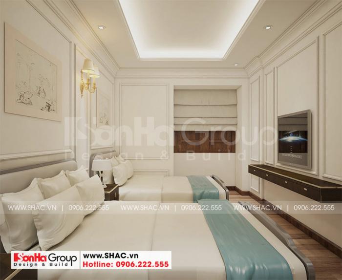 Mẫu phòng ngủ khách sạn đẹp tiêu chuẩn 2 sao với 2 giường đơn