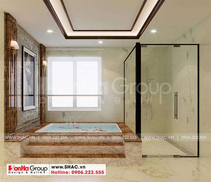 Thiết kế phòng tắm cao cấp và sang trọng được chủ nhân hài lòng cao