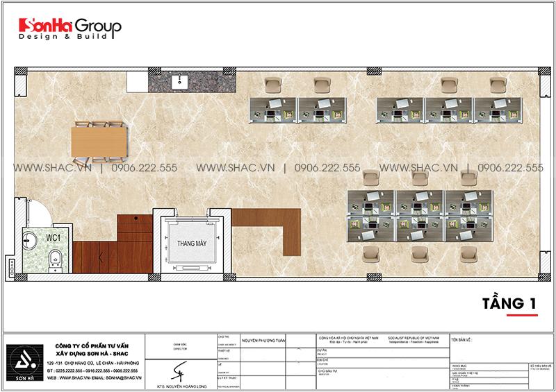 Mẫu nội thất nhà phố liền kề hiện đại kết hợp văn phòng làm việc 6m x 15,26m tại Waterfront City Hải Phòng 12