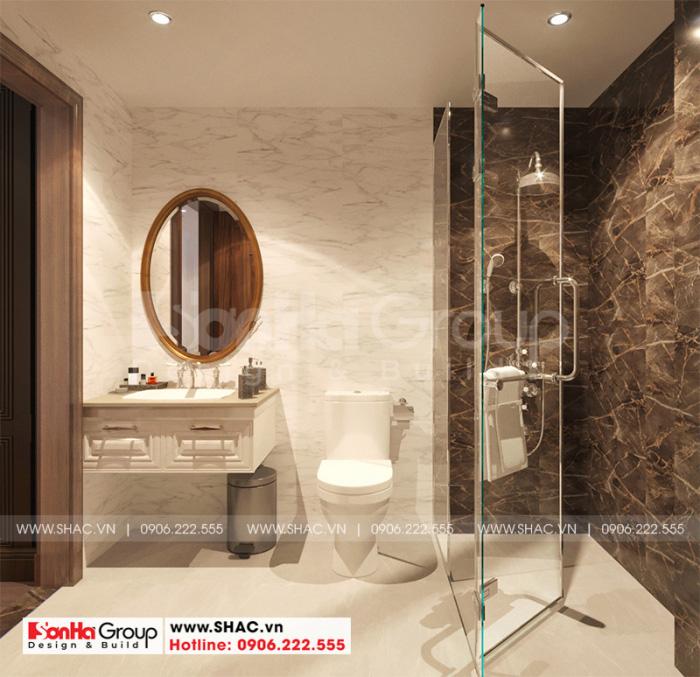 Thiết kế nội thất phòng tắm – wc đầy đủ tiện nghi trong mỗi phòng ngủ khách sạn