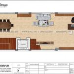 13 Bản vẽ tầng 2 nhà phố liền kề kết hợp văn phòng tại khu đô thị waterfront hải phòng wfc 008