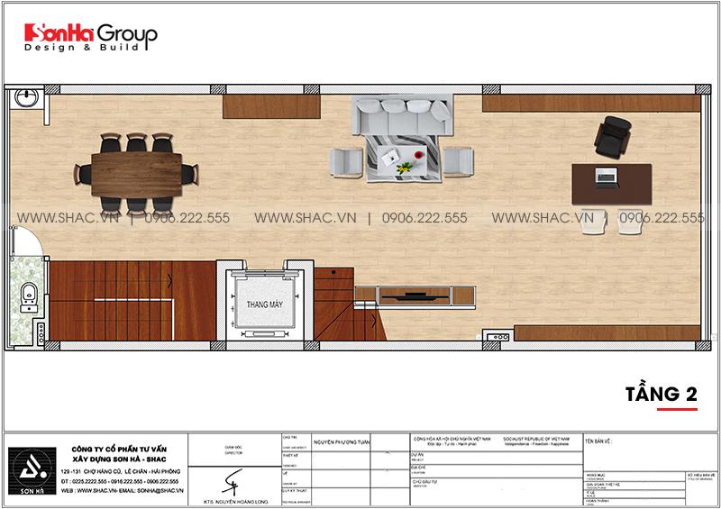 Mẫu nội thất nhà phố liền kề hiện đại kết hợp văn phòng làm việc 6m x 15,26m tại Waterfront City Hải Phòng 13