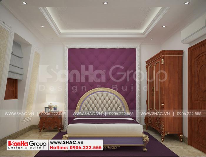Thiết kế ấn tượng của mẫu nội thất phòng ngủ phong cách tân cổ điển đẹp mắt