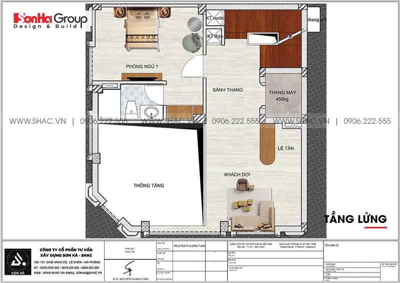 Thiết kế nội thất khách sạn mini 5 tầng tiêu chuẩn 2 sao tại Quảng Ninh 14