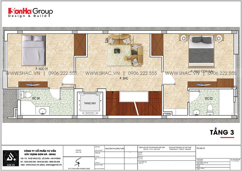 Mẫu nội thất nhà phố liền kề hiện đại kết hợp văn phòng làm việc 6m x 15,26m tại Waterfront City Hải Phòng 14