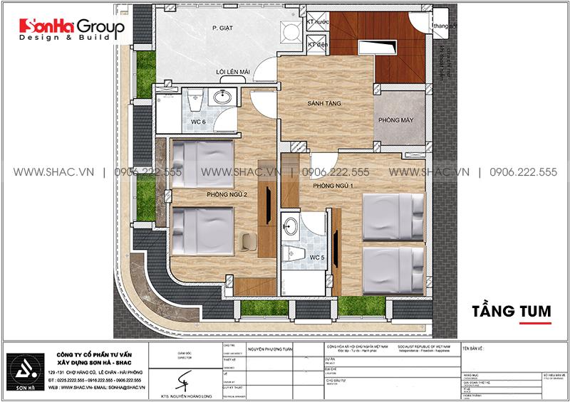 Thiết kế nội thất khách sạn mini 5 tầng tiêu chuẩn 2 sao tại Quảng Ninh 16