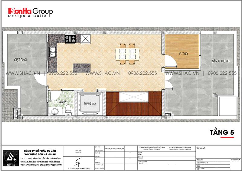 Mẫu nội thất nhà phố liền kề hiện đại kết hợp văn phòng làm việc 6m x 15,26m tại Waterfront City Hải Phòng 16