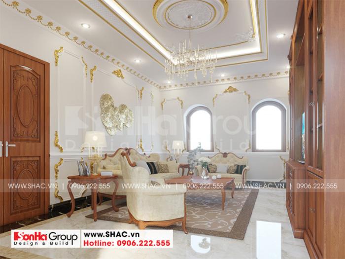 Mẫu nội thất phòng tổng hợp biệt thự tân cổ điển tại An Giang
