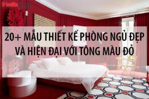 20+ Mẫu thiết kế phòng ngủ đẹp và hiện đại với tông màu đỏ 7