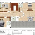 21 Bản vẽ tầng 2 biệt thự tân cổ điển 3 tầng tại an giang sh btp 0150