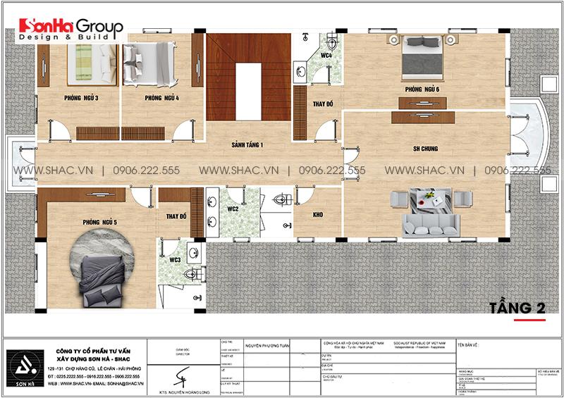 Biệt thự tân cổ điển 3 tầng 12m x 20m kết hợp kinh doanh tại An Giang – SH BTP 0150 21