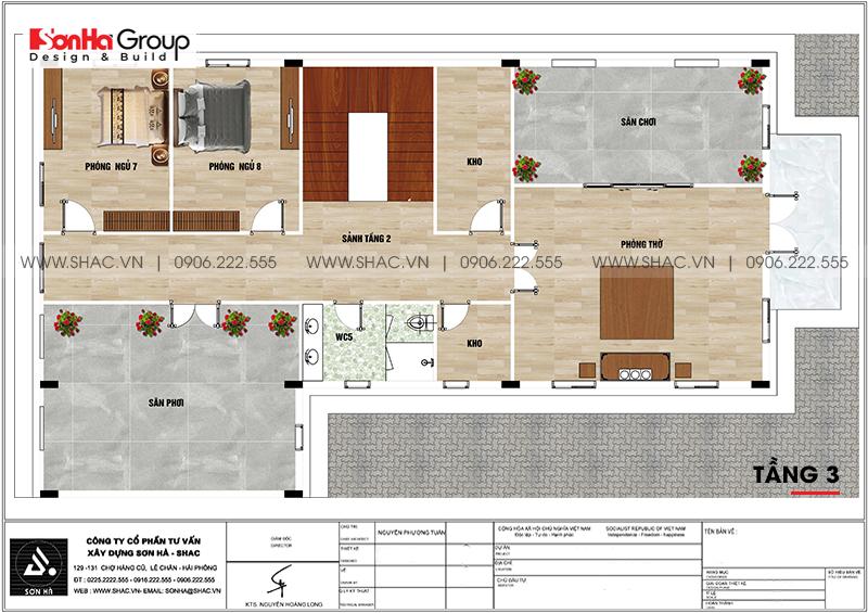 Biệt thự tân cổ điển 3 tầng 12m x 20m kết hợp kinh doanh tại An Giang – SH BTP 0150 22