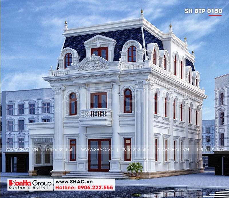 Biệt thự tân cổ điển 3 tầng 12m x 20m kết hợp kinh doanh tại An Giang – SH BTP 0150 3