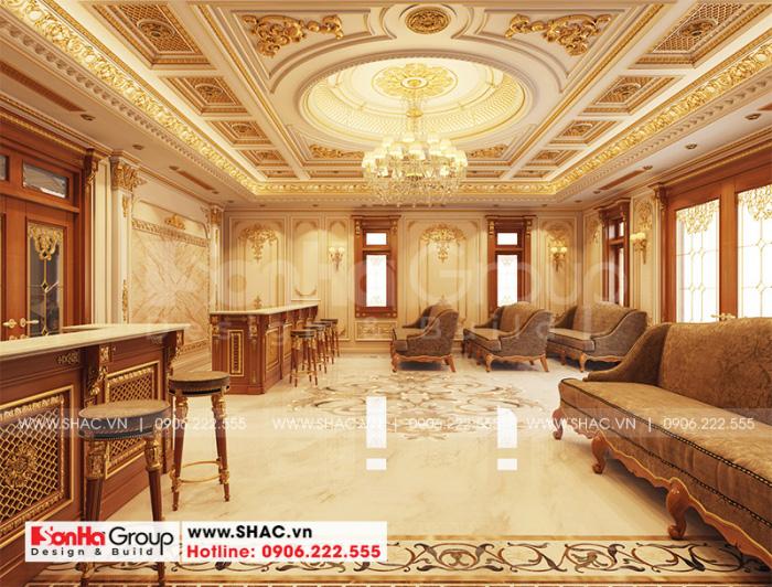 Bố trí nội thất khi văn phòng đẹp và sang tại tầng 1 ngôi biệt thự