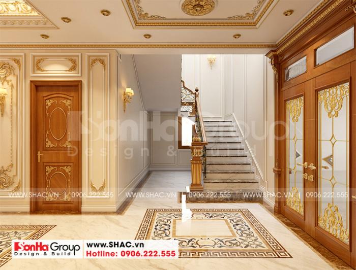Khu sảnh thang được lên phương án thiết kế rộng rãi, thoáng đãng