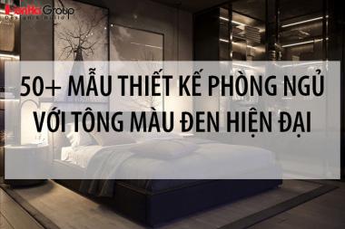 50+ Mẫu thiết kế nội thất phòng ngủ với tông màu đen hiện đại 3