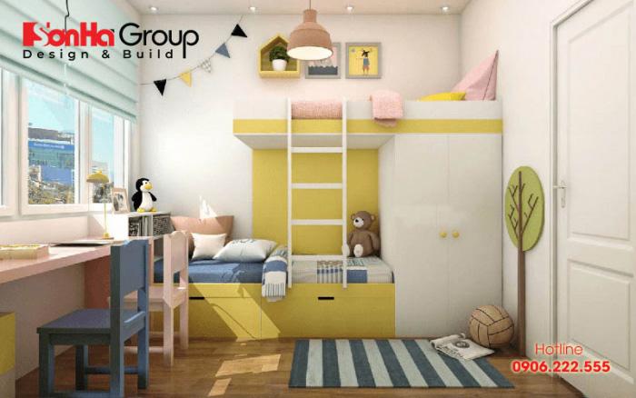 Ánh sáng tự nhiên luôn là yếu tố được chú trọng cho phòng ngủ trẻ em