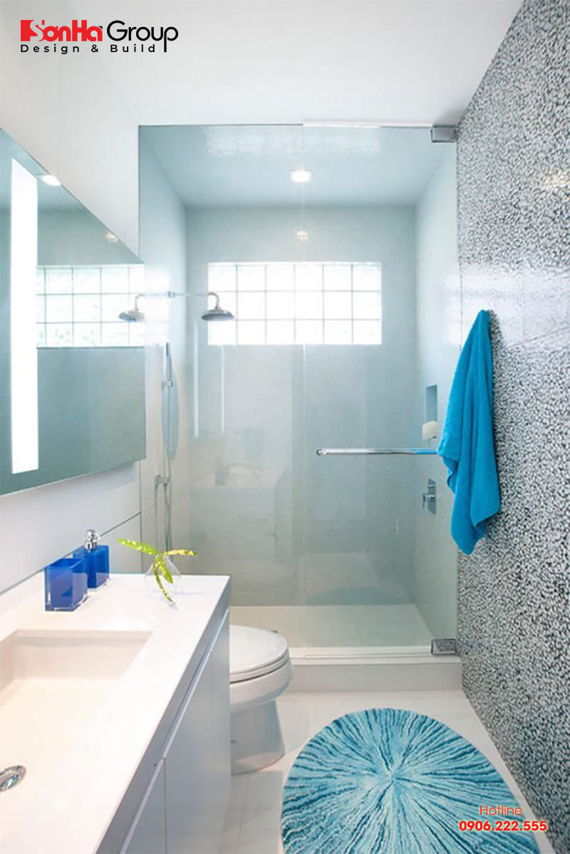 Bằng đường nét thiết kế giản dị, phóng khoáng mang đến mẫu nhà tắm, nhà vệ sinh nhỏ đẹp hiện đại
