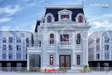 BÌA thiết kế biệt thự tân cổ điển 3 tầng mặt tiền 12m tại an giang sh btp 0150