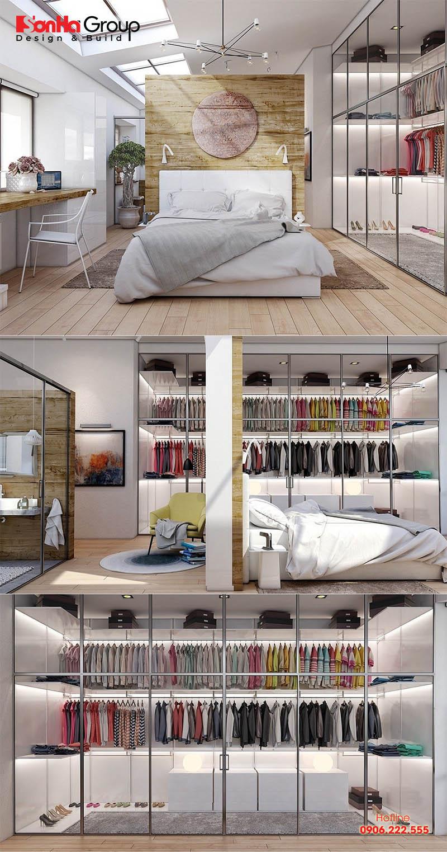 Bố trí phòng thay đồ trong phòng ngủ tiện nghi 1