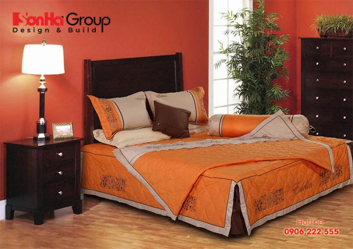 Cách phối màu sắc hài hòa mang đến cho căn phòng ngủ vẻ đẹp sang trọng và ấm áp
