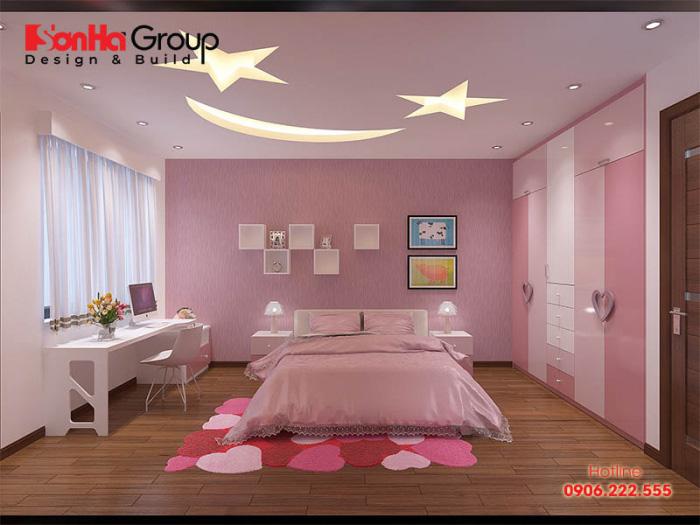 Cách trang trí phòng ngủ cho con gái với gam màu hồng đậm nhạt đẹp đúng sở thích