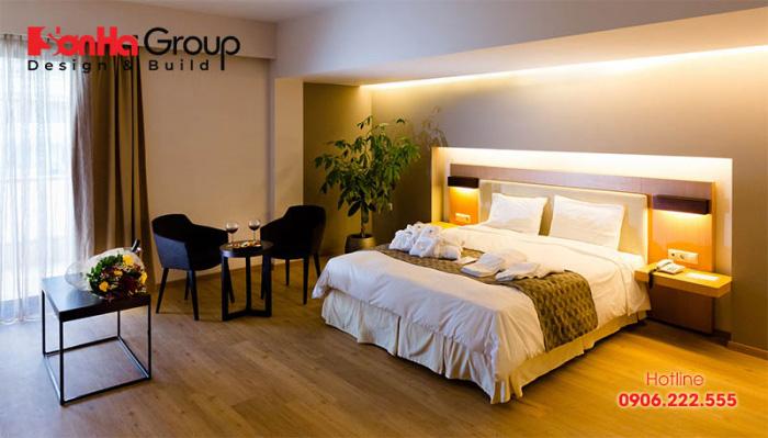 Căn cứ vào phong cách thiết kế của khách sạn để có thể đưa ra mẫu giường ngủ phù hợp