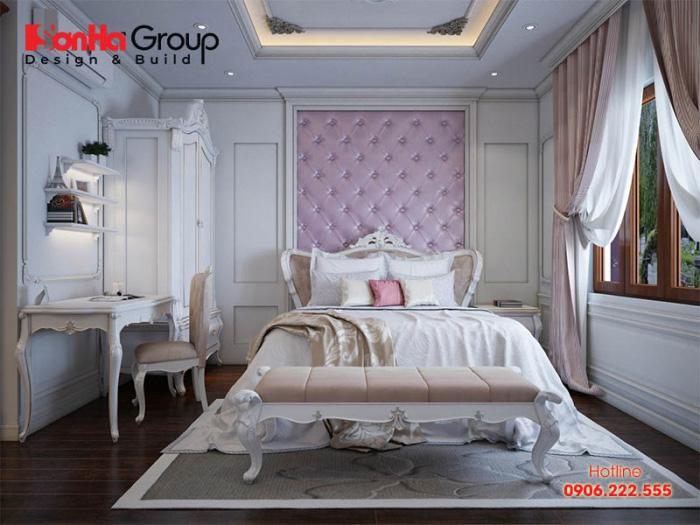 Chắc hẳn đây sẽ là sự lựa chọn lý tưởng cho các con gái lớn trong gia đình với thiết kế nội thất phòng ngủ