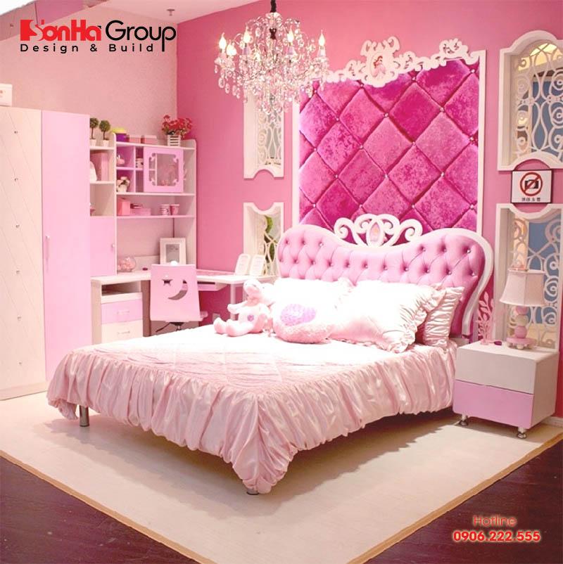 Chắc với cách thiết kế nội thất phòng ngủ công chúa này sẽ khiến tất cả các bé gái đều ao ước