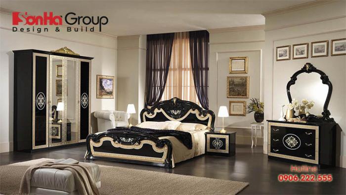 Gam màu tinh tế làm nên cốt cách sang trọng và đẳng cấp của mẫu nội thất phòng ngủ cổ điển