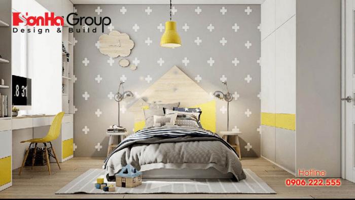Hãy để bé thỏa sức thể hiện tài năng của mình trong trang trí phòng ngủ