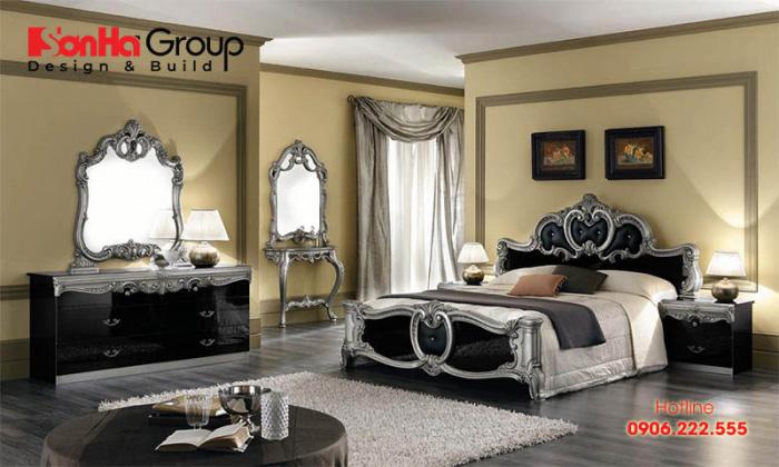 Không gian phòng ngủ cổ điển đẹp và sang trọng với thiết kế nội thất cao cấp