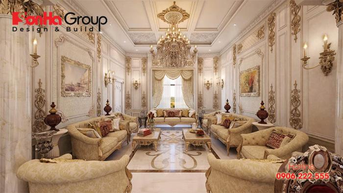 Mãn nhãn thiết kế nội thất biệt thự Vinhomes Marina phong cách cổ điển