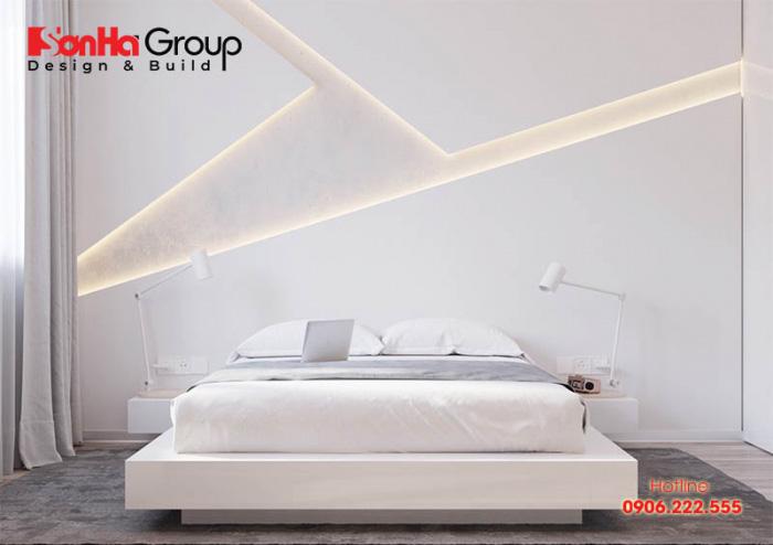 Mẫu 1 phòng ngủ với gam màu trắng khiến bạn không thể không mê