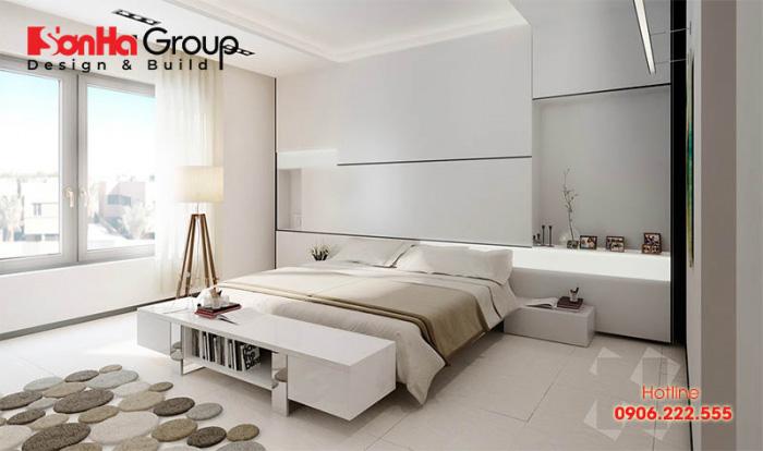 Mẫu 3 phòng ngủ với gam màu trắng khiến bạn không thể không mê