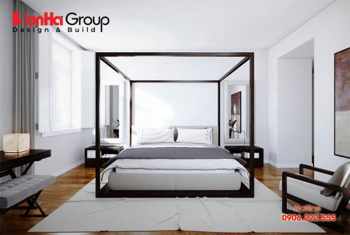 Mẫu 4 phòng ngủ với gam màu trắng khiến bạn không thể không mê