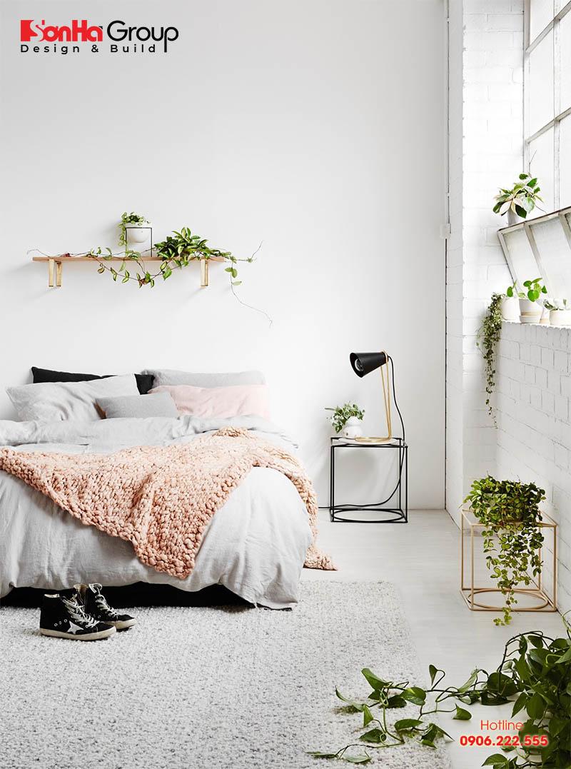 Mẫu 5 phòng ngủ với gam màu trắng khiến bạn không thể không mê
