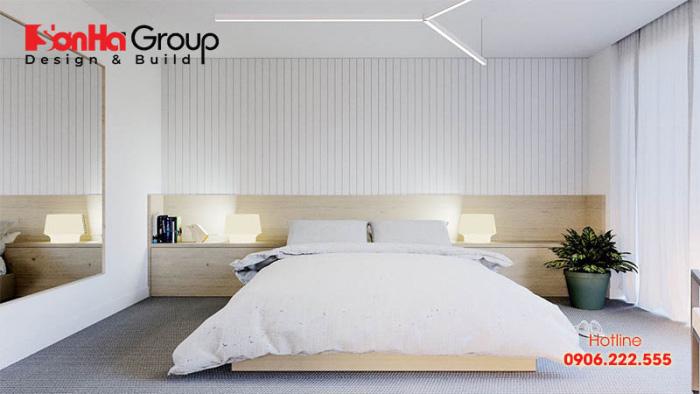 Mẫu 6 phòng ngủ với gam màu trắng khiến bạn không thể không mê