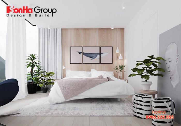 Mẫu 7 phòng ngủ với gam màu trắng khiến bạn không thể không mê