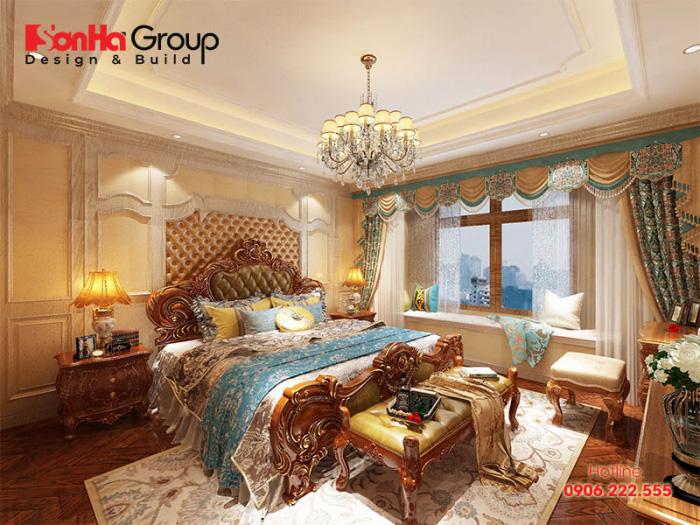 Mẫu bài trí nội thất phòng ngủ đẹp khiến bạn có cảm giác như đang lạc vào cung điện hoàng gia châu Âu