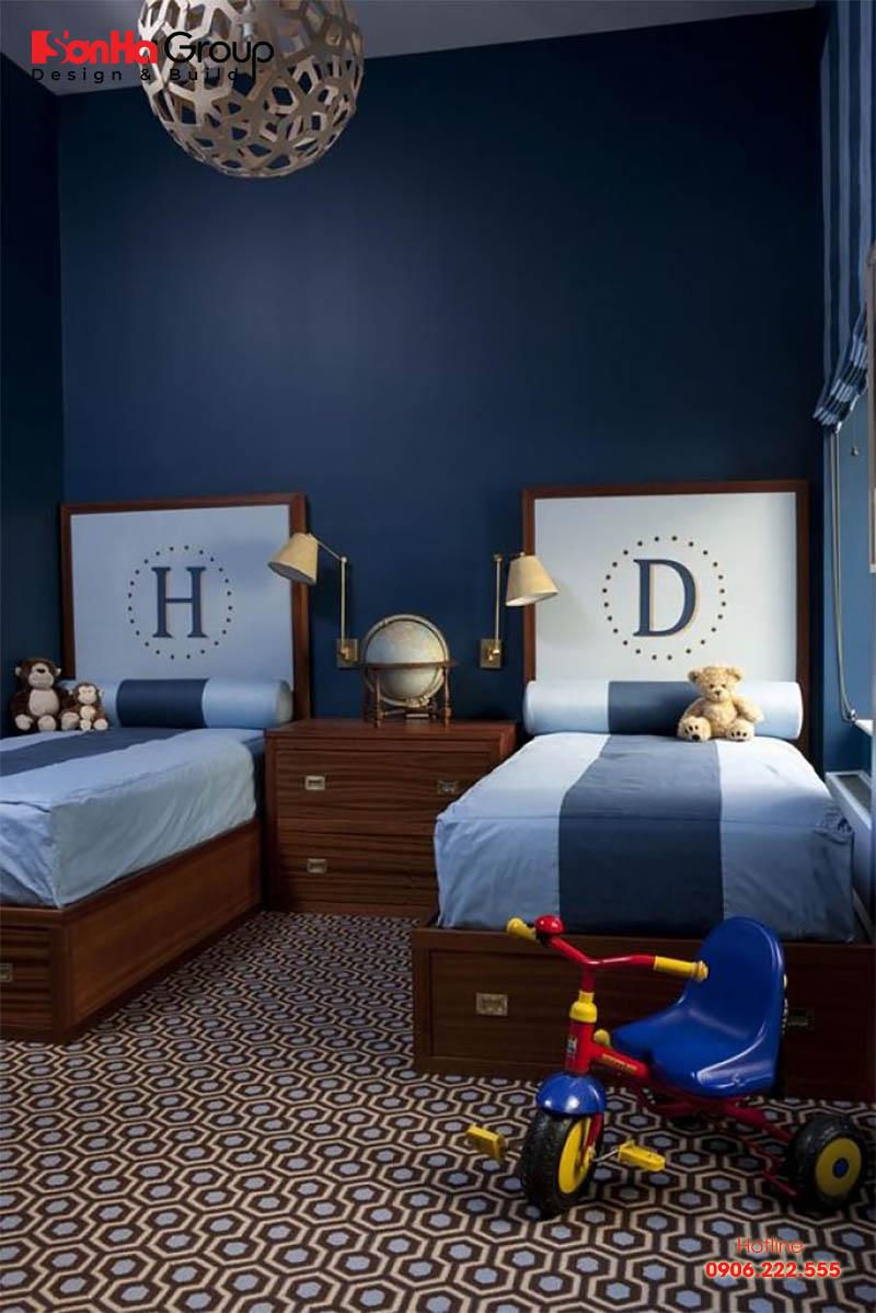 Mẫu nội thất phòng ngủ đã có sự phá cách đôi chút về màu sắc, kiểu dáng của chiếc giường và tranh sơn tường