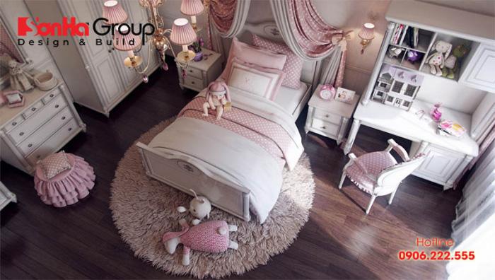 Mẫu phòng ngủ bé gái độ tuổi tiểu học cực đẹp 3