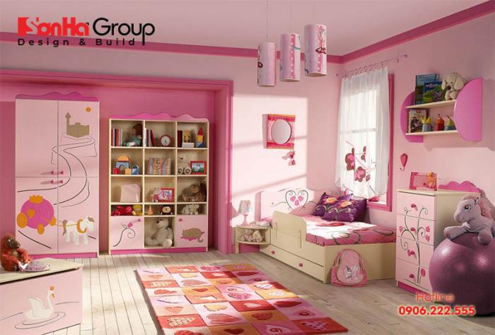 Mẫu phòng ngủ cho bé gái 10 tuổi cực dễ thương