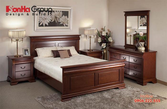 Mẫu phòng ngủ có thiết kế nội thất gỗ đẹp dành cho người trung tuổi