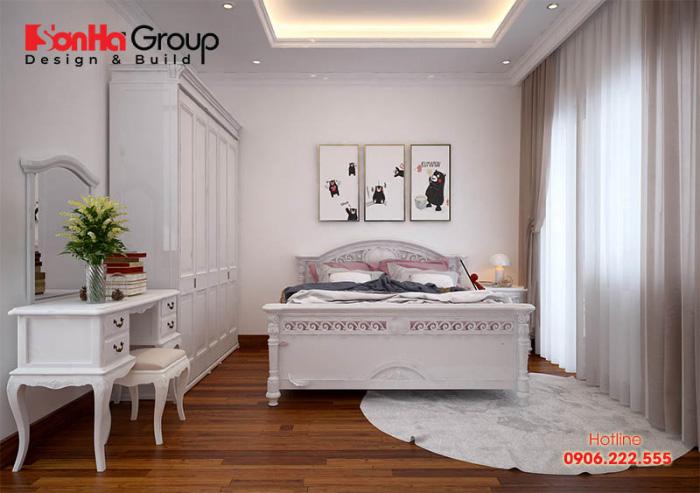 Mẫu phòng ngủ đẹp thiết kế dành riêng cho bé gái